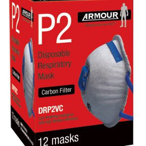 ARMOUR SAFETY ARMOUR DISPOSABLE DUST MASK DRP2V – P2 / RESPIRATOR