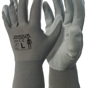 ARMOUR Grey Nitrile Open Back Glove