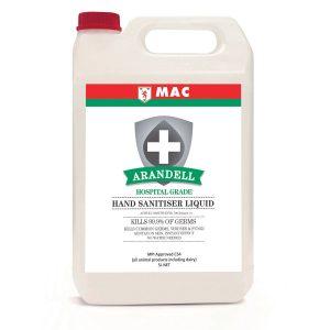 MAC Arandell Hand Sanitiser Bulk Liquid – 5L