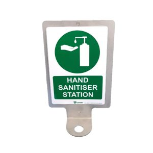 Hand Sanitiser Wall Bracket With Sign